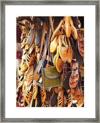 Macedonian Shoes Framed Print by Rae Tucker