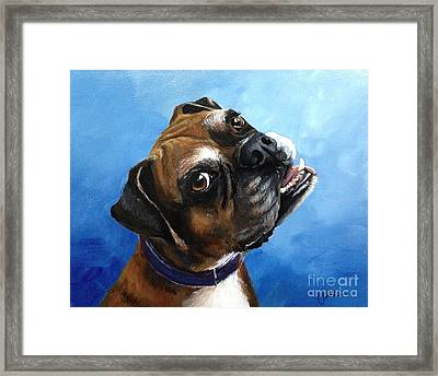 Macey Framed Print by June Huff