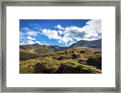 Framed Print featuring the photograph Macgillycuddy's Reeks And Valleys In Kerry In Ireland  by Semmick Photo