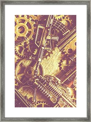 Machine Guns Framed Print by Jorgo Photography - Wall Art Gallery