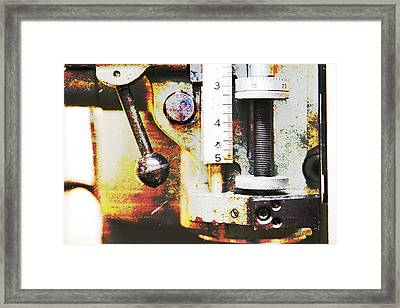 Machine Shop Grunge 10 Framed Print by J Darrell Hutto