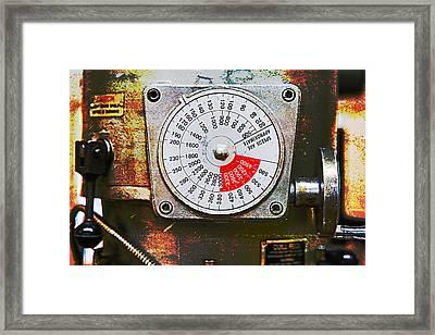 Machine Shop Grunge 12 Framed Print by J Darrell Hutto