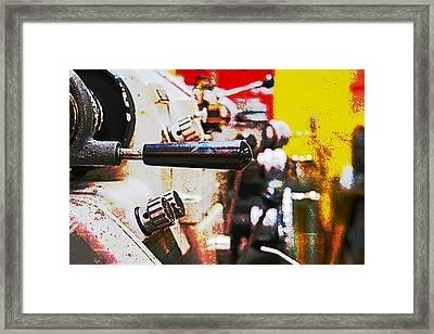 Machine Shop Grunge 6 Framed Print by J Darrell Hutto