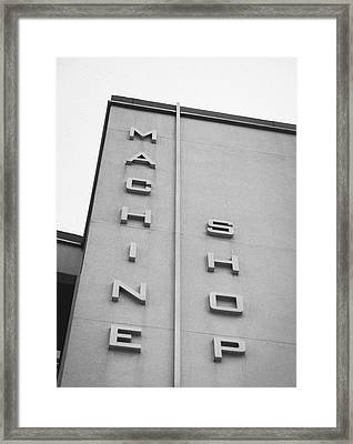 Machine Shop Framed Print by Jon Woodhams