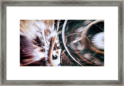 Machine Speed Warp In Blur Framed Print