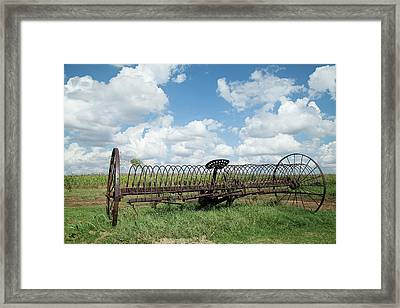 Machinery And Sky Framed Print