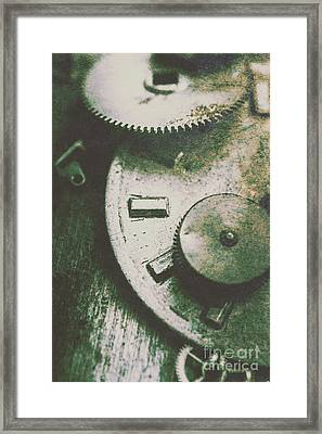 Machinery From The Industrial Age Framed Print