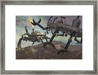 Steampunk Engines Of War Framed Print by Carol and Mike Werner