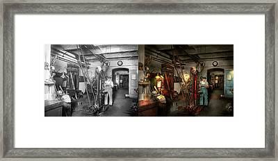Framed Print featuring the photograph Machinist - Government Approved 1919 - Side By Side by Mike Savad
