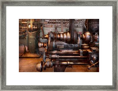Machinist - Steampunk - 5 Speed Semi Automatic Framed Print by Mike Savad