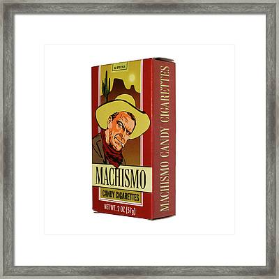 Machismo Candy Cigarettes Framed Print