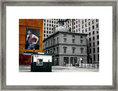 Machismo On Memorial Boulevard Framed Print