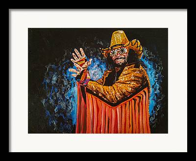Randy Macho Man Savage Framed Prints
