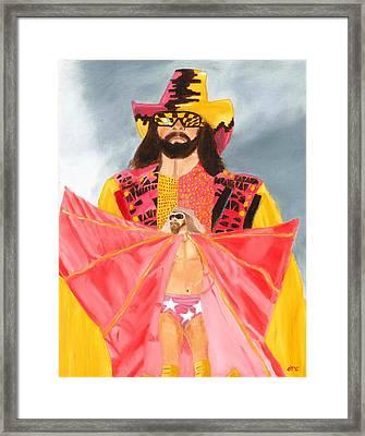 Macho Man Randy Savage Wwe Portrait Framed Print