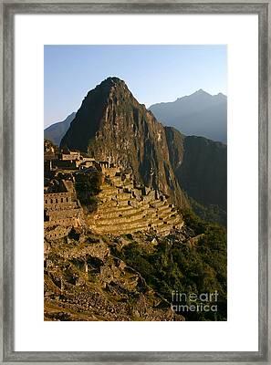 Machu Picchu At Dawn Framed Print