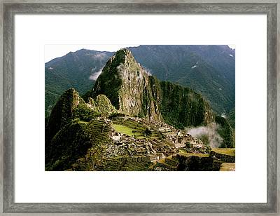 Machu Picchu At Sunrise Framed Print