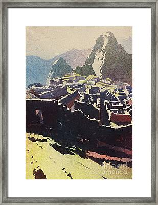 Machu Picchu Morning Framed Print