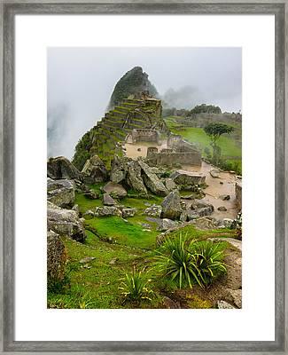 Machu Picchu Peru Framed Print by Andre Distel