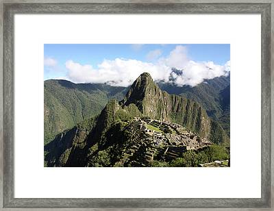Machu Picchu Ruin, Peru Framed Print by Aidan Moran