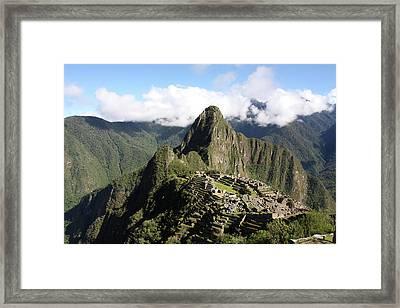 Framed Print featuring the photograph Machu Picchu Ruin, Peru by Aidan Moran