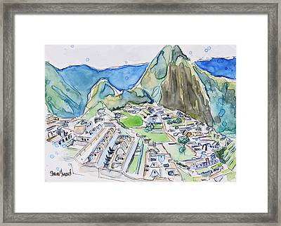 Machu Picchu Framed Print by Shaina Stinard