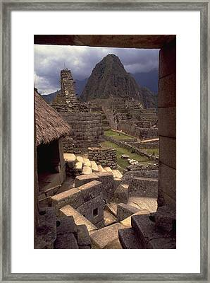 Framed Print featuring the photograph Machu Picchu by Travel Pics