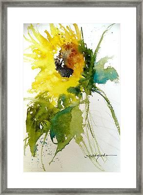 Maci's Sunflower Framed Print