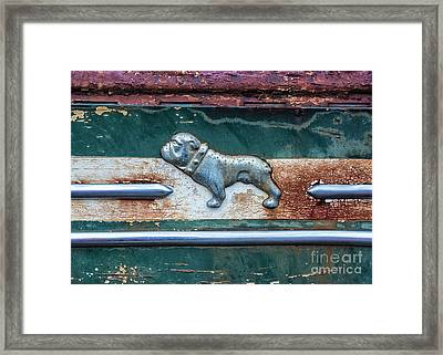 Framed Print featuring the photograph Mack Bulldog by Terry Rowe
