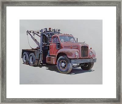 Mack Wrecker. Framed Print