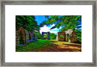 Mackenzie King Estates Ruins Framed Print