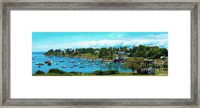 Mackerel Cove On Bailey Island Framed Print