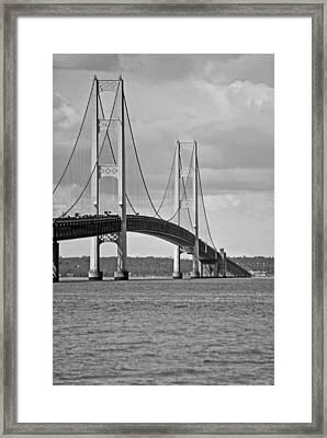 Mackinac Bridge 6111 Framed Print by Michael Peychich