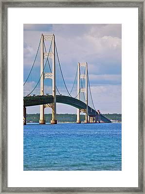 Mackinac Bridge Framed Print by Michael Peychich