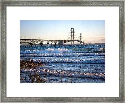 Mackinac Bridge Michigan Framed Print