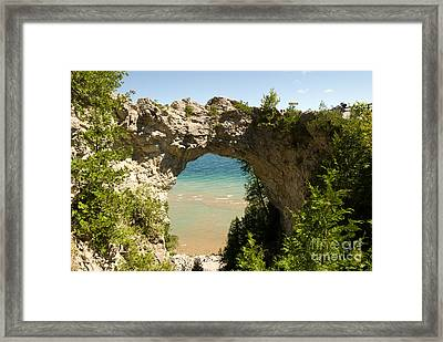 Mackinac Island Arch Framed Print