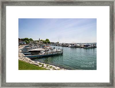 Mackinac Island Marina Framed Print