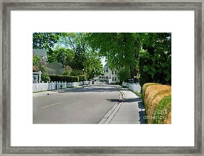 Mackinac Island Street Framed Print