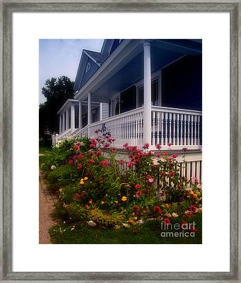 Mackinac Island Victorian Wildflower Garden Framed Print