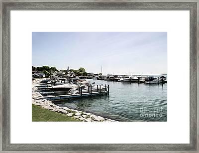 Mackinac Marina Art Framed Print