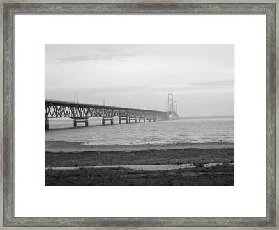 Mackinaw Bridge Framed Print