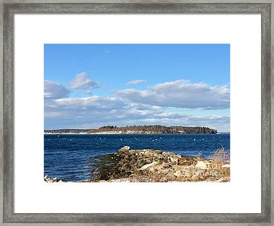 Mackworth Island Falmouth Maine Framed Print