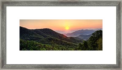 Macon County North Carolina Mountains Framed Print