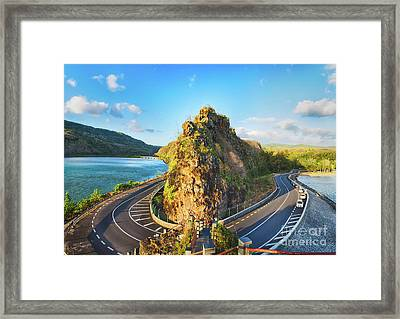 Maconde View Point. Mauritius. Panorama Framed Print