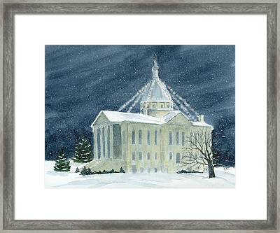 Macoupin County Illinois Courthouse Framed Print by Denise   Hoff
