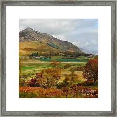 Macpherson Autumn - The Clan Macphersons Seat  Framed Print by John Kelly