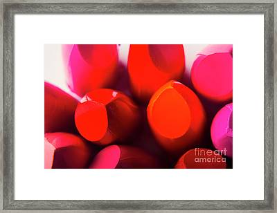 Framed Print featuring the photograph Macro Cosmetic Art by Jorgo Photography - Wall Art Gallery