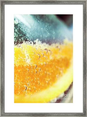 Macro Detail On A Club Orange Cocktail Framed Print