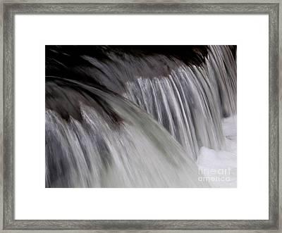 Macro Falls Framed Print