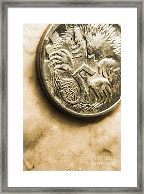 Macro Five Cents Australia Currency Framed Print by Jorgo Photography - Wall Art Gallery