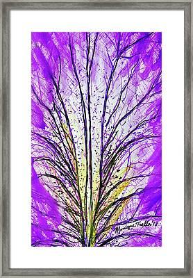 Macro Iris Petal Framed Print